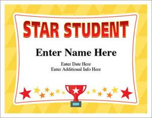 Star Student Certificate – Free Award Certificates throughout Star Student Certificate Templates