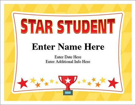 Star Student Certificate - Free Award Certificates with regard to Unique Star Student Certificate Template