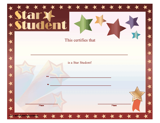 Star Student Certificate Printable Certificate | Student pertaining to Unique Star Student Certificate Template