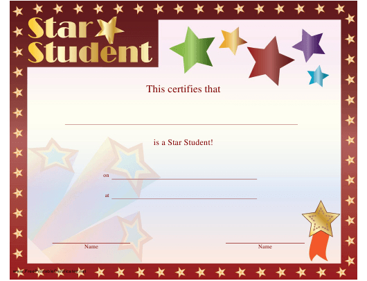 Star Student Certificate Template Download Printable Pdf intended for Star Student Certificate Templates