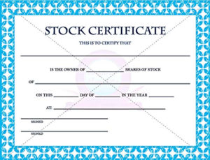 Stock Certificate Template Free In Word And Pdf inside Editable Stock Certificate Template
