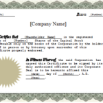 Stock Certificate Template Word (1) | Professional Templates Within New Certificate Of Ownership Template
