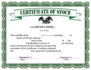 Stock Certificate Template Word (9)   Professional Templates intended for New Stock Certificate Template Word