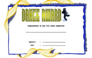 Street Dance Certificate Template Free | Certificate regarding Hip Hop Dance Certificate Templates