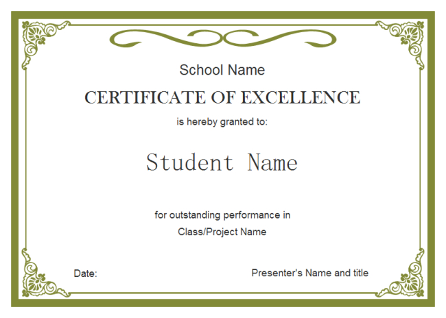 Student Certificate Template | Student Certificates inside Fresh Free Student Certificate Templates