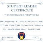 Student Leadership Certificate: 10+ Best Student Leadership In New Student Leadership Certificate Template