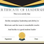 Student Leadership Certificate: 10+ Best Student Leadership Inside New Student Leadership Certificate Template