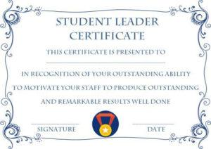 Student Leadership Certificate: 10+ Best Student Leadership intended for New Leadership Award Certificate Template