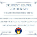 Student Leadership Certificate: 10+ Best Student Leadership intended for Outstanding Student Leadership Certificate Template Free