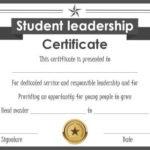 Student Leadership Certificate: 10+ Best Student Leadership Pertaining To New Student Leadership Certificate Template