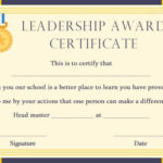 Student Leadership Certificate: 10+ Best Student Leadership Pertaining To Student Leadership Certificate Template