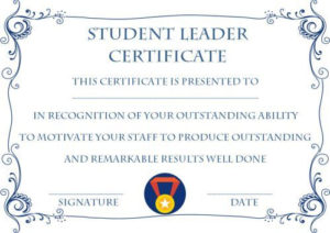 Student Leadership Certificate: 10+ Best Student Leadership within Best Leadership Award Certificate Template