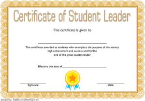Student Leadership Certificate Template 1 Free throughout Student Council Certificate Template