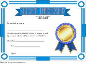 Student Leadership Certificate Template 4 Free for Student Leadership Certificate Template Ideas