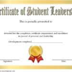 Student Leadership Certificate Template 7 Free | Student Intended For Quality Leadership Certificate Template Designs