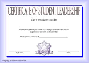 Student Leadership Certificate Template 9 Free In 2020 intended for Fresh Student Leadership Certificate Template Ideas