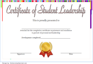 Student Leadership Certificate Template Free [10+ Ideas] pertaining to Student Council Certificate Template 8 Ideas Free