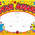 Student Of The Day Certificate Beautiful Star Award Award Pertaining To Fresh Player Of The Day Certificate Template Free