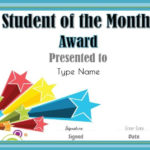 Student Of The Month | Student Of The Month, Star Of The Regarding Free Printable Student Of The Month Certificate Templates