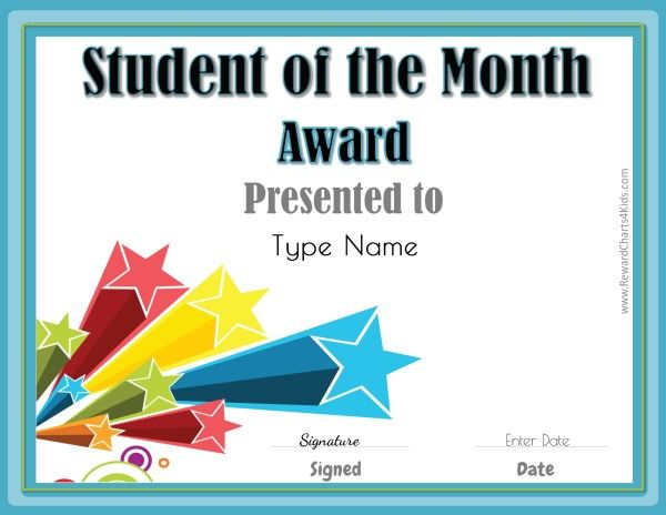 Student Of The Month   Student Of The Month, Star Of The regarding Free Printable Student Of The Month Certificate Templates