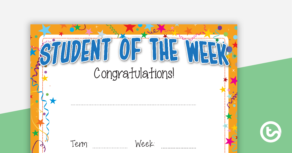 Student Of The Week Certificate pertaining to Student Of The Week Certificate Templates