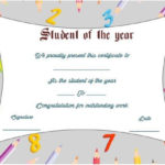 Student Of The Year Award Certificate Template | Awards In 9 Math Achievement Certificate Template Ideas