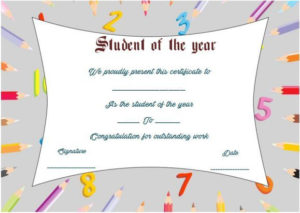 Student Of The Year Award Certificate Template | Awards in Quality Student Of The Year Award Certificate Templates