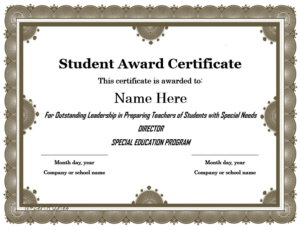 Student Of The Year Award Certificate Templates (1 with regard to Quality Student Of The Year Award Certificate Templates