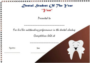 Student Of The Year Award Certificate Templates: 20+ Free To in Student Of The Year Award Certificate Templates