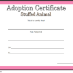 Stuffed Animal Adoption Certificate Template Free | Adoption Throughout Stuffed Animal Adoption Certificate Template Free