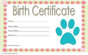 Stuffed Animal Birth Certificate Template Free (2Nd Design intended for Stuffed Animal Birth Certificate