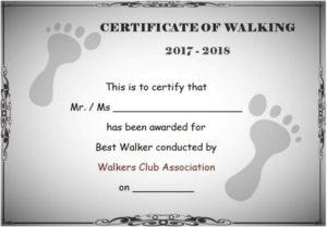 Stunning 25 Walking Certificates (Editable Word Templates throughout Unique Walking Certificate Templates