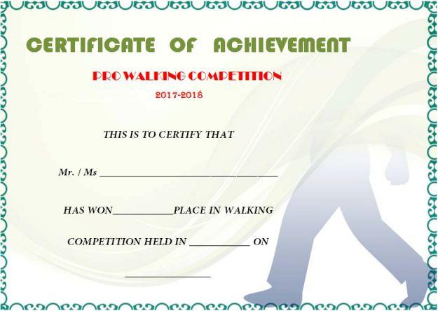 Stunning 25 Walking Certificates (Editable Word Templates within Walking Certificate Templates
