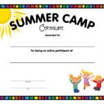 Summer Camp Certificate - Free Printable - Allfreeprintable regarding Summer Camp Certificate Template
