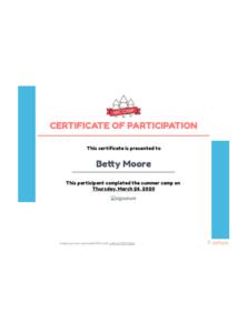Summer Camp Certificate Template – Pdf Templates | Jotform with Certificate For Summer Camp Free Templates 2020