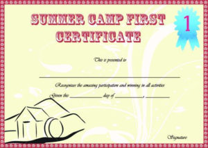 Summer Camp Certificate Templates: 15+ Templates To in Fresh Summer Camp Certificate Template
