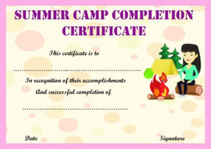 Summer Camp Certificate Templates: 15+ Templates To regarding Fresh Summer Camp Certificate Template