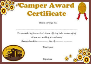 Summer Camp Certificate Templates: 15+ Templates To With regarding Fresh Certificate For Summer Camp Free Templates 2020