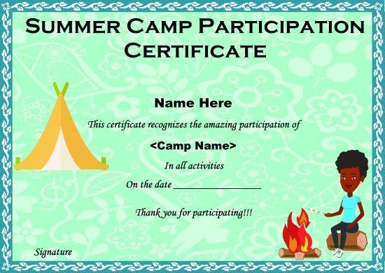 Summer Camp Certificate Templates: 15+ Templates To within Summer Camp Certificate Template