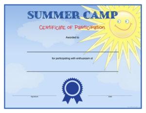 Summer Camp Certificates – Free Printable – Allfreeprintable intended for Summer Camp Certificate Template