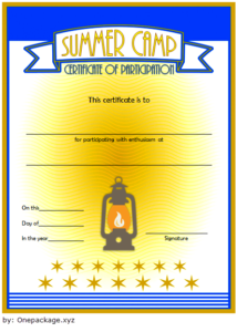 Summer Camp Participation Certificate Free Printable 2 Di 2020 pertaining to Certificate For Summer Camp Free Templates 2020