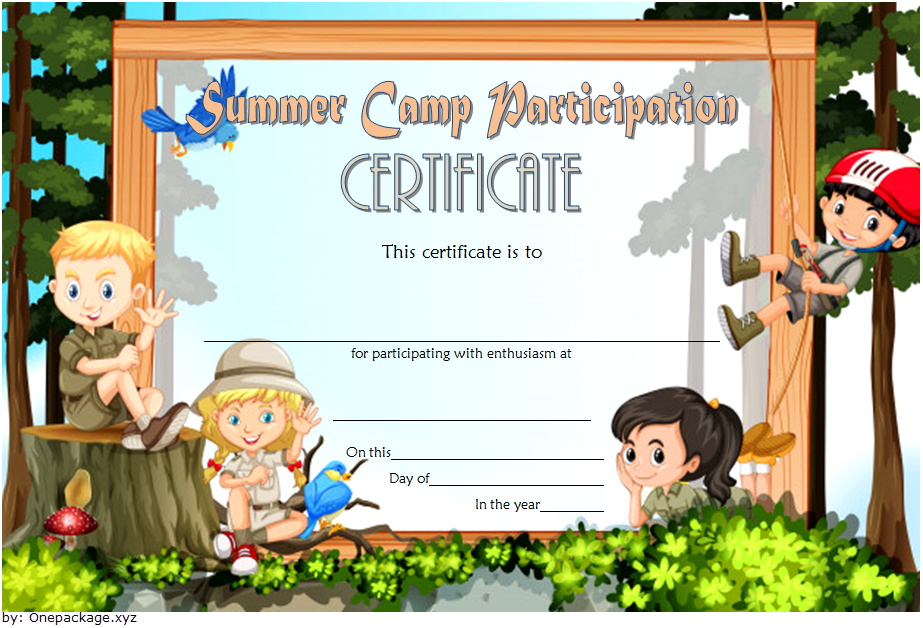 Summer Camp Participation Certificate Free Printable 3 Di 2020 in Certificate For Summer Camp Free Templates 2020