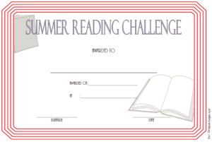 Summer Reading Challenge Certificate Free Printable 2 with regard to Summer Reading Certificate Printable