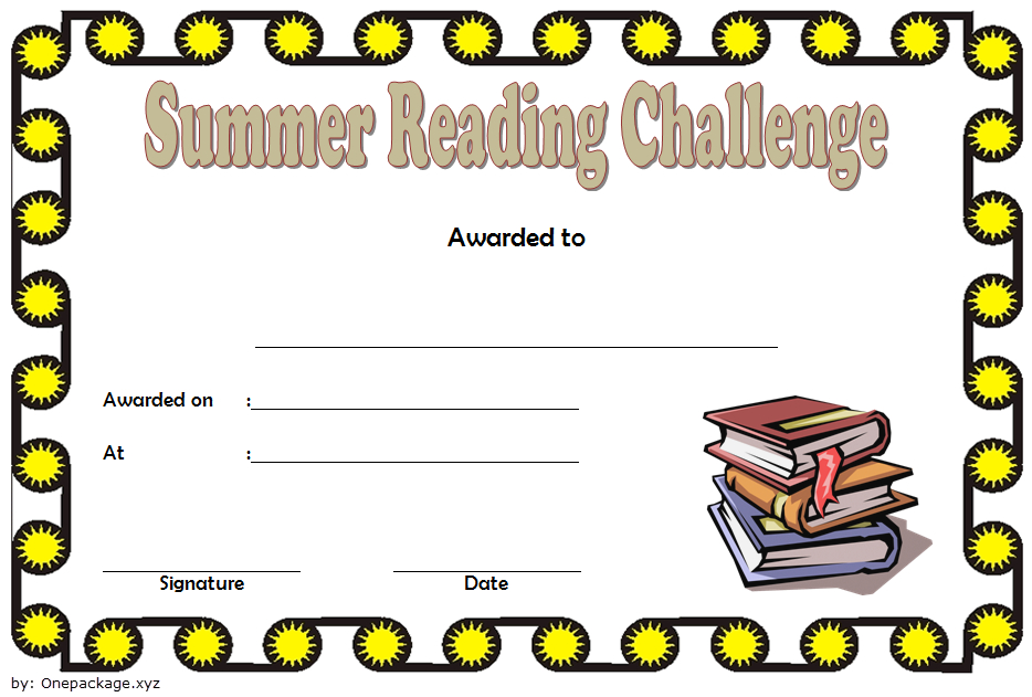 Summer Reading Challenge Certificate Free Printable 4 with Summer Reading Certificate Printable