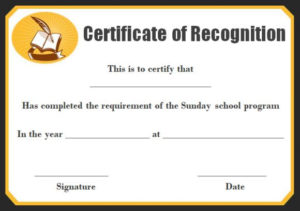 Sunday School Certificate Template: 17+ Specialized throughout School Promotion Certificate Template 10 New Designs Free