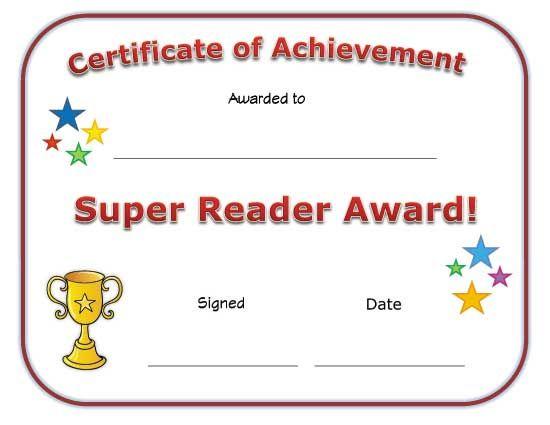 Super Reader Award Certificate | Super Reader, Reading for Fresh Super Reader Certificate Templates