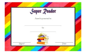 Super Reader Certificate Template 01 | Super Reader within Super Reader Certificate Template