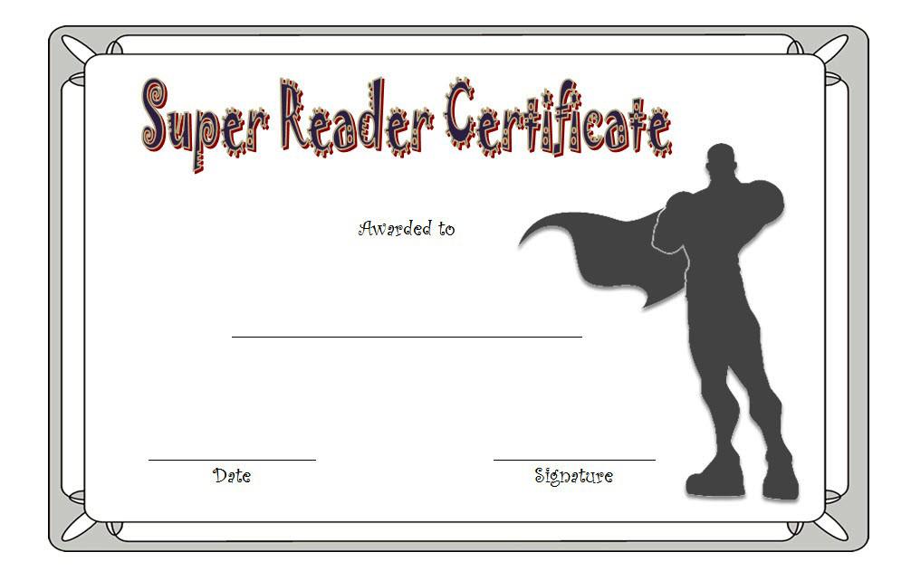 Super Reader Certificate Template 04 | Super Reader for Super Reader Certificate Template