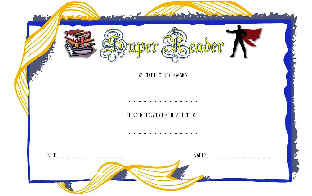 Super Reader Certificate Template 06   Super Reader Pertaining To Fresh Super Reader Certificate Templates