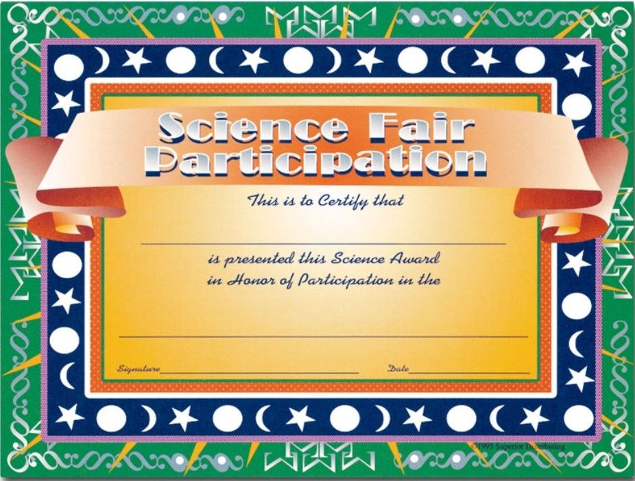 Super Science Fair Projects | Science Fair, Science Fair with regard to Fresh 10 Science Fair Winner Certificate Template Ideas